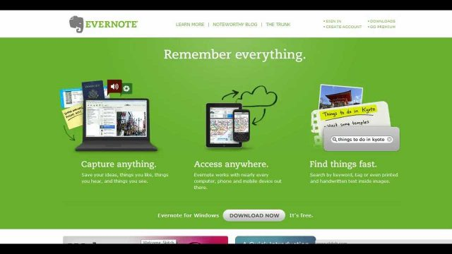 Tools for Writers – Evernote