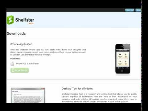 Shelfster – tools for writers