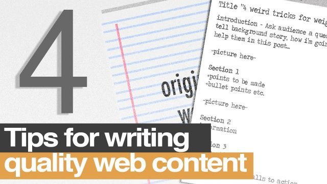 tips for writing for the web