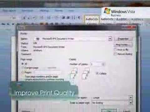 Microsoft Windows Vista Tip – XPS Writer