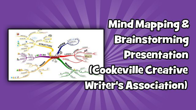 Mind Mapping & Brainstorming Presentation (Cookeville Creative Writer's Association)