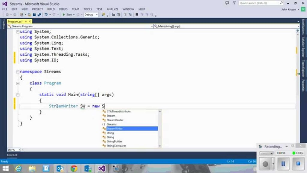 c# write file Hello, i have a long text string and i need to save it to text file i have save button and string how to do it how to open a file a nd write to it i never worked.