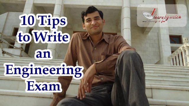 10 Tips to Write an Engineering Exam ( Hindi / Urdu) – Mr. Raj Kumar Thenua
