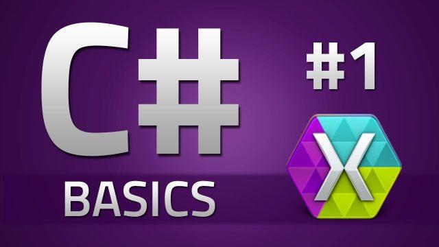 1. How to program in C# – BASICS – Beginner Tutorial