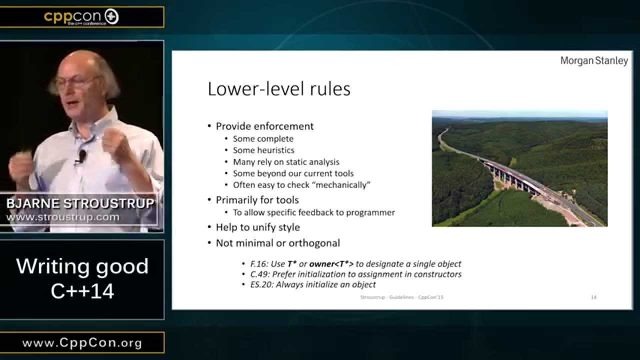 "CppCon 2015: Bjarne Stroustrup ""Writing Good C++14"""