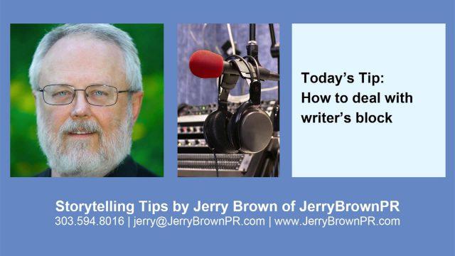 Storytelling Tips-Writer's Block