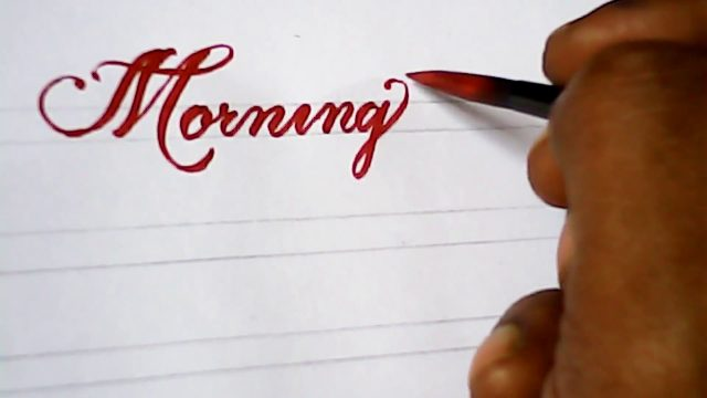 Awesome hand writing with pen brush | very impressive | mazic writer