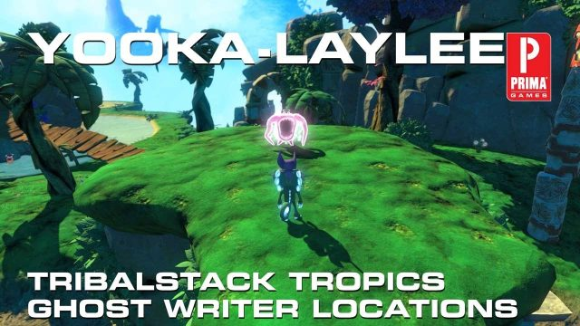 Yooka-Laylee All Ghost Writer Locations in Tribalstack Tropics