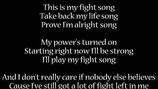 Fight Song – Rachel Platten | Lyrics