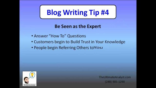 Clinton Twp Blog Writer: 5 Benefits of Company Blogs – The Ultimate Analyst (248) 905-1290