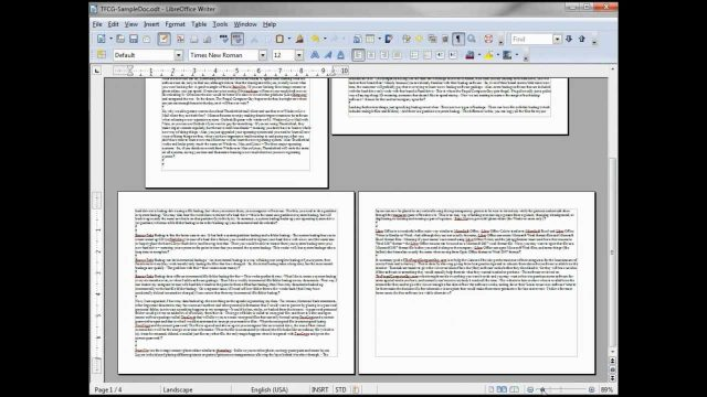 LibreOffice-Writer (8) Paper Size, Landscape and Portrait Printing