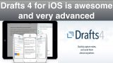 "Drafts 4 for iOS is another ""must have"" app – it's awesome"