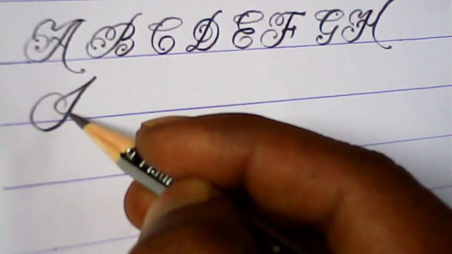 How to write english capital letters | pencil writing tutorials | mazic writer