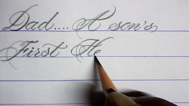 Father' s day Special | Calligraphy with pencil | mazic writer