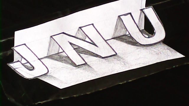 New style 3D lettering | 3d letter designing simple | mazic writer