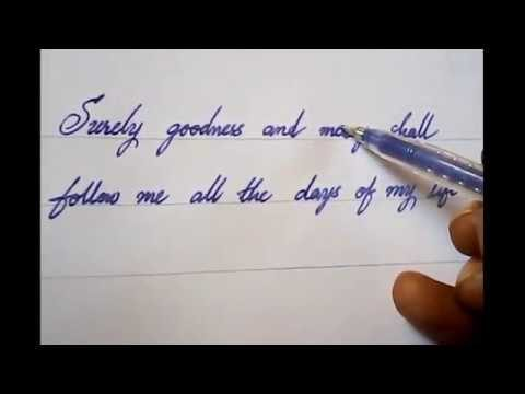 How to write good and neat handwriting | Calligraphy | Mazicwriter