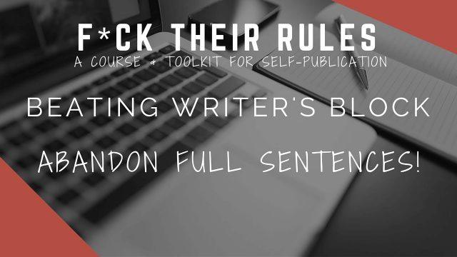Beat Writer's Block: Tip 3 of 6