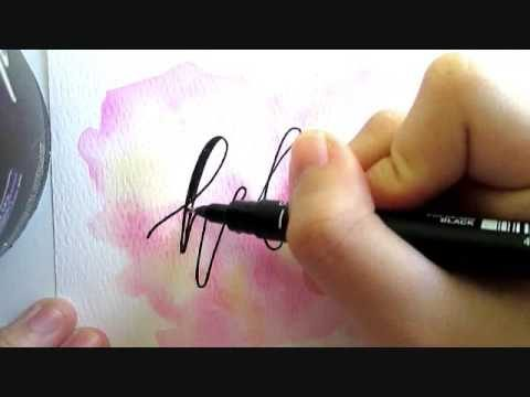 TUTORIAL: EASY WATERCOLOR & CALLIGRAPHY with just a PEN