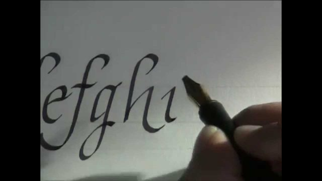 calligraphy – how to write calligraphy letters – italic letters for beginners