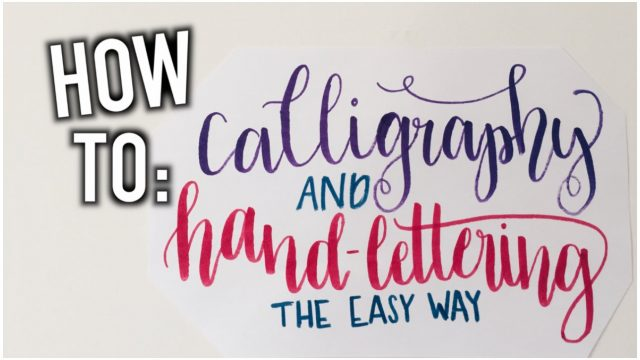 How To: Calligraphy | Easy and Inexpensive