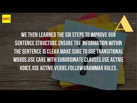 How Do I Improve My Sentence Structure?