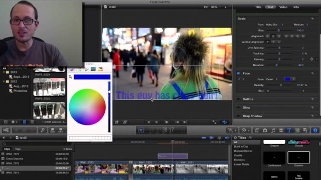 Final Cut Pro basics – Adding text and transitions