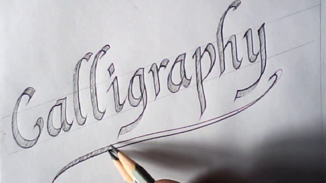 Hand writing | double pencil calligraphy | pencil calligraphy | Mazic Writer