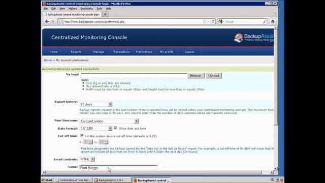 BackupAssist: Configure Centralised Monitoring Console (CMC)