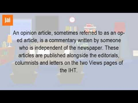 What Is An Opinion Article In The Newspaper??