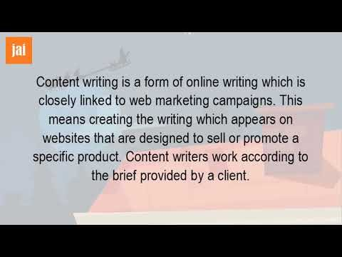 What Is A Content Writing?