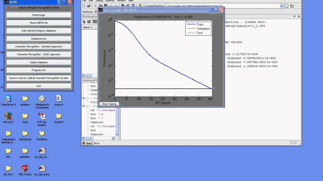 Optical Character Recognition System Matlab code