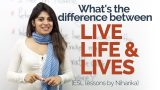 """English Speaking Practice – Difference between 'LIVE', 'LIFE' & """"LIVES' – Spoken English Lessons"""