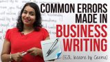 Common errors made in Business Writing ( Business Emails & Letters) – Business English Lesson
