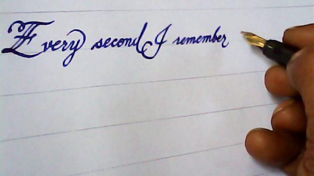 Fountain pen hand writing | Amazing hand writing with nib pen