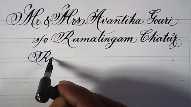hand writing satisfying calligraphy | addressing on cards | hand lettering