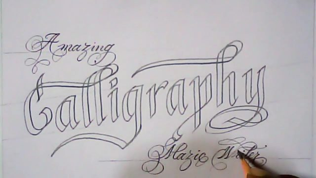 Pencil handwriting and art | double pencil calligraphy | Mazic Writer