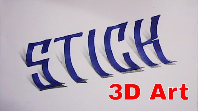 How to make satisfying 3d lettering | different calligraphy | Mazic Writer