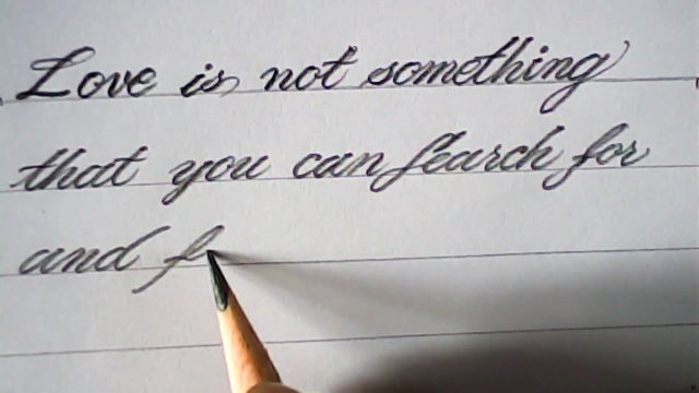 Hand writing with pencil | pencil calligraphy | mazic writer