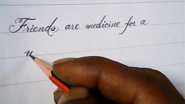 Handwriting with pencil | pencil calligraphy | mazicwriter