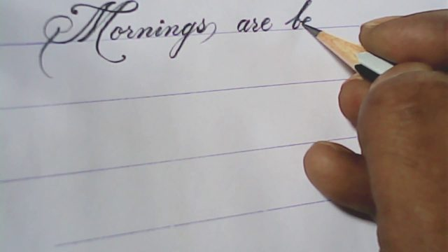 Pencil calligraphy | hand writing with pencil |mazicwriter