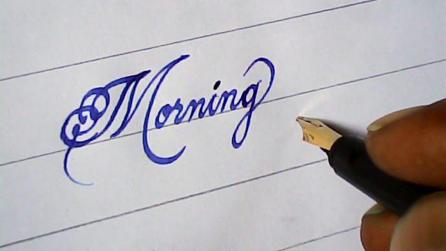 Hand writing with fountain pen | amazing | mazic writer