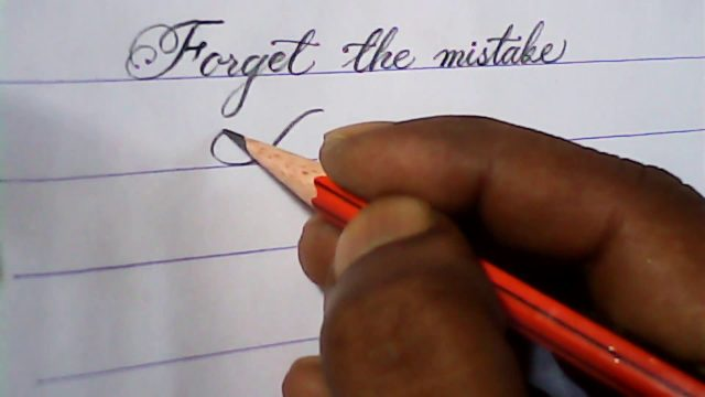 Palace script hand writing with pencil | pencil calligraphy | mazicwriter