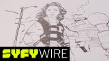Watch Paper Girls Comic Artist Cliff Chiang Sketch Tiffany | SYFY WIRE