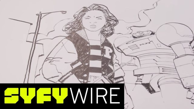 Watch Paper Girls Comic Artist Cliff Chiang Sketch Tiffany   SYFY WIRE
