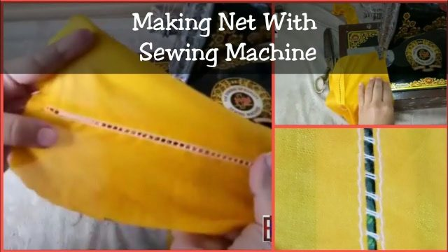Make Net With Simple Sewing Machine In 2 Minute   New Sewing Technique