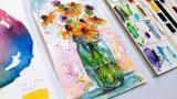 LIVE! Loose Watercolor Wildflower Bouquet! 12:30pm ET