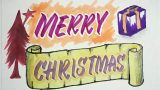 Merry Christmas greetings | How to draw Christmas greetings | easy art