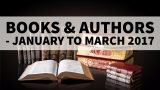 Books & Authors – January to March 2017 – Current Affairs