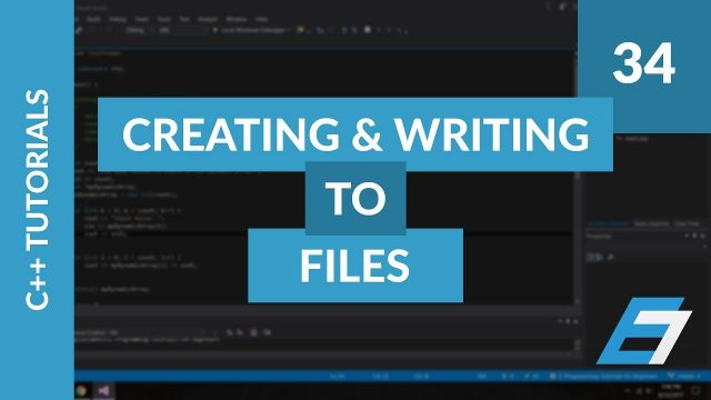 C++ Programming Tutorials – 34 – C++ File IO Creating and Writing to Files- Eric Liang