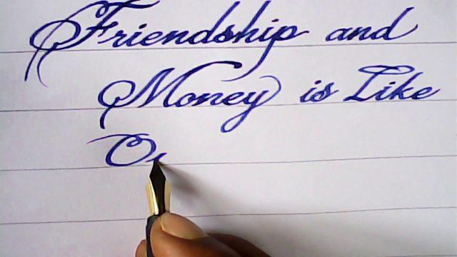 Fountain pen Calligraphy | hand writing with fountain pen | mazic writer